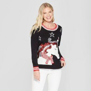 33 Degrees (Juniors') Unicorn Christmas Sweater